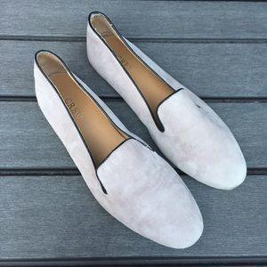 J.CREW Size 8 Cora Suede Flat Shoes